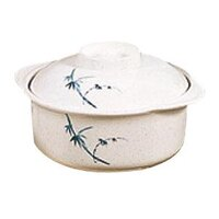 Blue Bamboo Melamine 12 oz. Miso Bowl with Lid – 4 7/8 inch 12 / Pack
