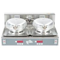 Star SWBD 120V Double Round Waffle Iron 7 inch