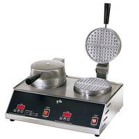 Star SWB7R2E Double Round Waffle Iron 7 inch