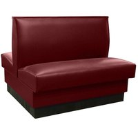 American Tables & Seating QAD-42 Sangria Plain Double Back Booth 42 inch High - Fully Upholstered Quick Ship