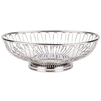 American Metalcraft OBS913 13 3/8 inch x 9 1/4 inch Oval Stainless Steel Basket