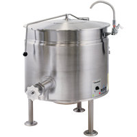 Cleveland KEL-60-SH Short Series 60 Gallon Stationary Full Steam Jacketed Electric Kettle - 208/240V