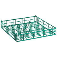 9 Compartment Catering Glassware Basket - 4 3/4 inch x 4 3/4 inch Compartments