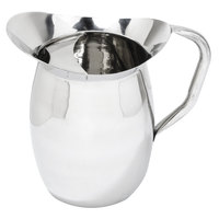 3 Qt. Stainless Steel Bell Pitcher with Ice Guard