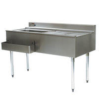 Eagle Group CWS5-18L-7 60 inch Underbar Work Station with Left Mount Ice Bin, Drain Board, and Cold Plate