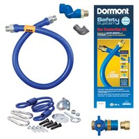 36 inch Dormont 1650KITCFS SafetyQuik Gas Appliance Connector Kit with SwivelMAX Connector - 1/2 inch Diameter