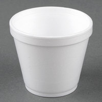 Dart Solo 8SJ12 8 oz. Customizable Squat White Foam Food Bowl - 1000/Case