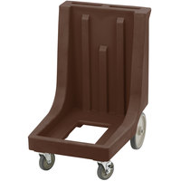Cambro CD300HB Dark Brown Camdolly for Cambro Camcarriers and Camtainers with Handle & Rear Easy Wheels