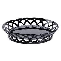 GET RB-860-BK 10 1/2 inch Black Round Plastic Fast Food Basket - 12/Pack