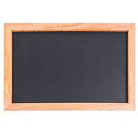 Aarco 12 inch x 18 inch Oak Frame Black Chalk Board