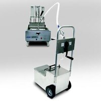 MirOil HOS1050 105 lb. Fryer Oil Hand Operated Filter Machine and Discard Trolley - Countertop