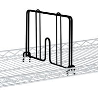 Metro HD18-DBM Black Matte Drop Mat Snap-On Divider - 18 inch Wide