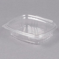 Genpak AD08 5 3/8 inch x 4 1/2 inch x 1 1/2 inch 8 oz. Clear Hinged Deli Container - 200/Case