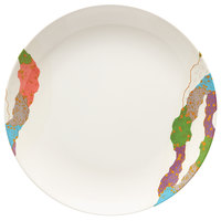 GET 208-5-CO 12 inch Contemporary Melamine Round Plate - 12/Pack