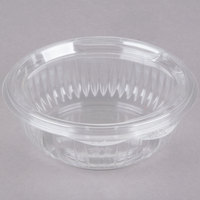 Dart Solo C12HBF PresentaBowls 12 oz. Clear Hinged Plastic Bowl with Flat Lid - 300 / Case