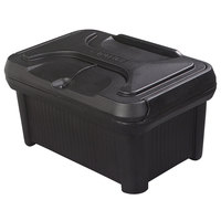 Carlisle XT180003 Cateraide Slide 'N Seal 8 inch Black Insulated Food Pan Carrier and Sliding Lid Set