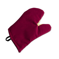 San Jamar KT0215 Cool Touch Flame Red Conventional Oven Mitt with Kevlar – 15 inch