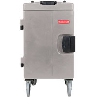 Rubbermaid FG940888PLAT Gray CaterMax Mobile Insulated 6 Pan Carrier - End Load