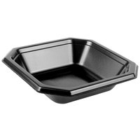 Genpak SQ70 Premium 20 oz. Laminated Black Square Foam Bowl - 500/Case