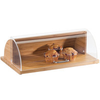 Cal-Mil 1333-60 Bamboo Roll Top Tray - 20 inch x 12 inch