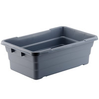 15 inch x 24 inch x 8 inch Gray Meat Lug Tote Box