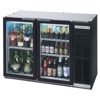 Beverage Air BB48GSY-1-SS-PT-WINE 48 inch Black Back Bar Wine Series Refrigerator - Narrow Depth, Pass-Through Glass Doors