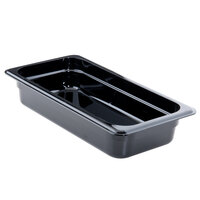 Cambro 32CW110 Camwear 1/3 Size Black Food Pan - 2 1/2 inch Deep