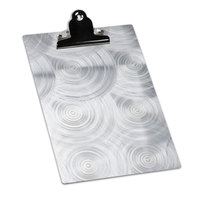 4 inch x 6 inch Menu Solutions ALSIN46-CLIP Single Panel Aluminum Clipboard Menu Board with Swirl Finish