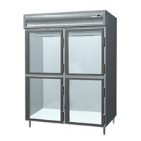 Delfield SARPT2-GH 55.42 Cu. Ft. Two Section Glass Half Door Pass-Through Refrigerator - Specification Line