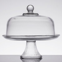 Anchor Hocking 86475L13 Canton 12 inch Glass Cake Stand / Punch Bowl Set