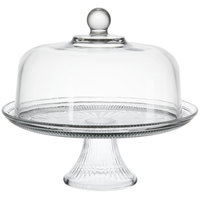 Anchor Hocking 86475L13 Canton 12 inch Glass Cake Stand Set