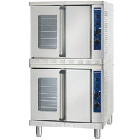 Alto-Shaam 2-ASC-4G / STK Liquid Propane Platinum Series Stacked Full Size Gas Convection Ovens with Manual Controls - 100,000 BTU