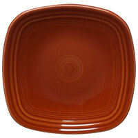 Homer Laughlin 921334 Fiesta Paprika 7 1/2 inch Square Salad Plate - 12/Case