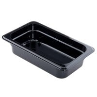 Cambro 42CW110 Camwear 1/4 Size Black Food Pan - 2 1/2 inch Deep