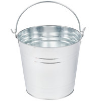 American Metalcraft PTUB87 8 inch x 7 inch Round Galvanized Metal Metal Pail
