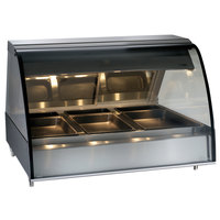 Alto-Shaam TY2-48 BK Black Countertop Heated Display Case with Curved Glass - Full Service 48 inch
