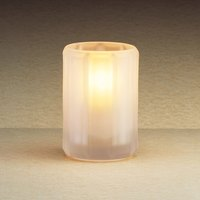 Sterno Products 80182 4 inch Paragon Frosted Fluted Liquid Candle Holder