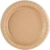 7 1/2 inch Coated Kraft Paper Plate - 400 / Case