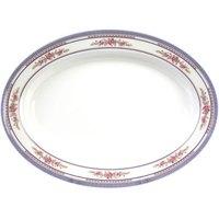 Rose 13 inch x 9 3/4 inch Oval Melamine Deep Platter - 12 / Pack