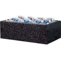 Cal-Mil 473-18-17 Granite Charcoal Acrylic Ice Housing with Clear Pan - 26 inch x 18 inch x 6 inch