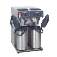 Bunn CWTF Twin APS Airpot Brewer with Stainless Steel Funnel and Hot Water Faucet - 120/240V (Bunn 23400.0041)