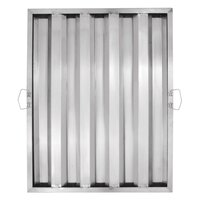 25 inch x 20 inch x 2 inch Stainless Steel Hood Filter