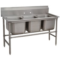 Advance Tabco 94-3-54 Spec Line Three Compartment Pot Sink - 62 inch