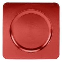 Tabletop Classics TRR-6660 12 1/4 inch Red Square Acrylic Charger Plate