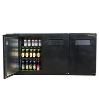 True TBB-24GAL-72 72 inch Under Bar Refrigerator with Galvanized Top and Three Solid Doors - 24 inch Deep