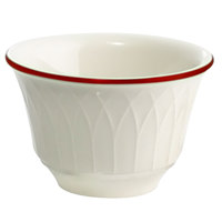 Homer Laughlin Gothic Red Jade 7.5 oz. Off White China Bouillon - 36/Case