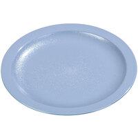Carlisle PCD20659 Slate Blue 6 1/2 inch Polycarbonate Narrow Rim Plate 48 / Case