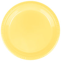Creative Converting 28102021 9 inch Mimosa Yellow Plastic Dinner Plate - 240 / Case