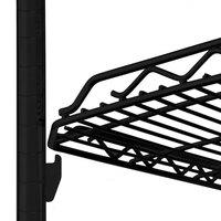 Metro HDM2448QBL qwikSLOT Drop Mat Black Wire Shelf - 24 inch x 48 inch