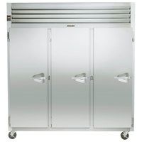 Traulsen G31313 77 inch G Series Three Section Solid Door Reach in Freezer with Left Hinged Doors (208-230/115) - 69.1 cu. ft.